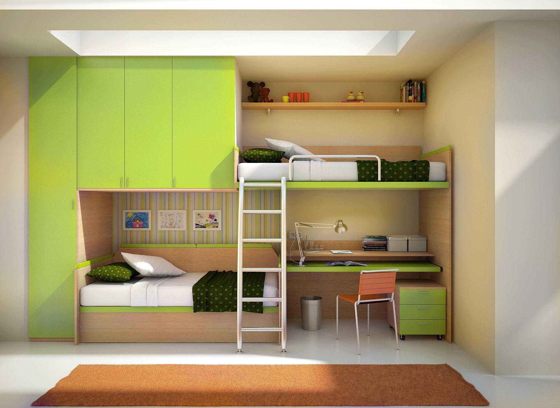 12 моделей детских комнат с встроенной мебелью.